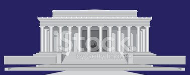 lincoln memorial building clipart. lincoln memorial center detailed vector illustration building clipart