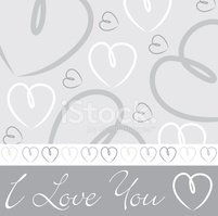 Hand drawn heart card in vector format.