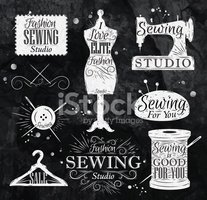 Sign,Tailor,Ilustration,Tex...