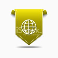 Global Business,Ribbon,Isol...