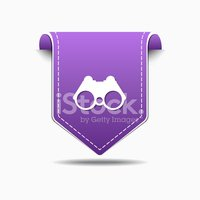 Binocular Purple Vector Icon Design