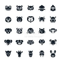 Animal Icons Vector Illustration