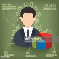 Businessman design on blackboard background,clean vector