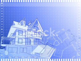 Blueprint,House,Wire Frame,...