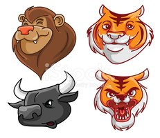 Mascot,Animal,Collection,Cu...