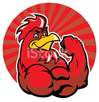Rooster,Red,Body Building,A...