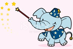 Elephant,Cartoon,Magic Wand...