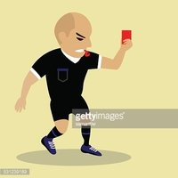 Sport,Soccer,Referee,Red,Bl...