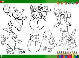 Eggs,Coloring,Easter,Baby C...