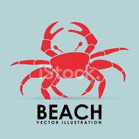 Crab,Sign,Vector,Background...