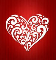 Red Background,Heart Shape,...