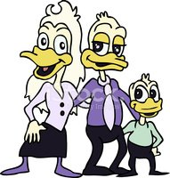 Duck,Cartoon,Duckling,Fathe...