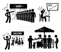 Good Business Day Stick Figure Pictogram Icons