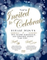 Invitation,Elegance,Gold,Bl...