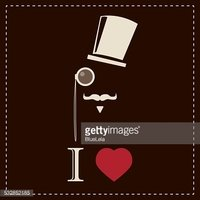 Vintage card with top hat monocle and mustache stock for Monocle promo code