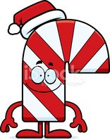 Happy Cartoon Candy Cane
