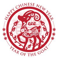 Goat,Chinese New Year,Vecto...