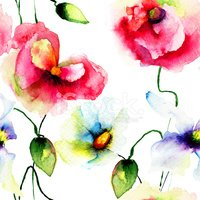 Flower,Watercolor Painting,...