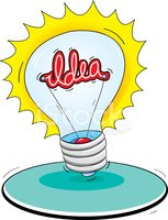 Light Bulb,Cartoon,Flash,In...