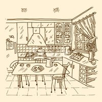 Sketch,Food,Furniture,Table...