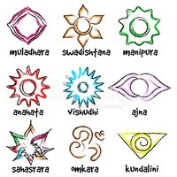 Set of Chakras Symbols stock vectors - Clipart me