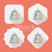 wedding bird flat icon with long shadow,eps10