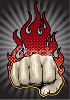 Fist,Flame,Fire - Natural P...