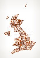 Cartography,Map,UK,French P...