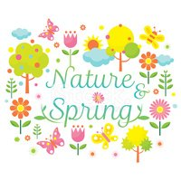 Spring Season Object Icons Heading