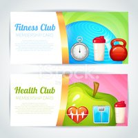 Fitness Club Card Design stock vectors Clipartme