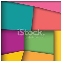Abstract 3d Square Background, Colorful Tiles, Geometric