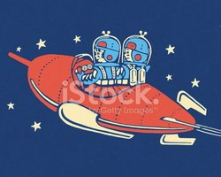 Two People in a Rocketship
