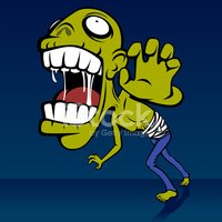Zombie,Monster,Cartoon,Biti...