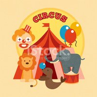 Circus,Painted Image,Print,...