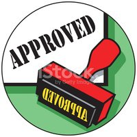 Rubber Stamp,Approved,Agree...