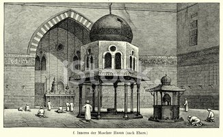 Mosque,Image Created 19th C...