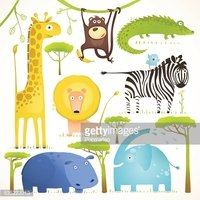 Afrikaanse dieren Fun Cartoon Clip Art Clip Art collectie
