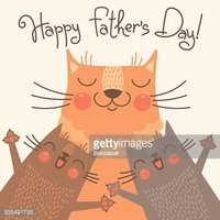 Sweet card for Fathers Day with cats
