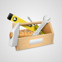 Ilustration,Toolbox,Wrench,...