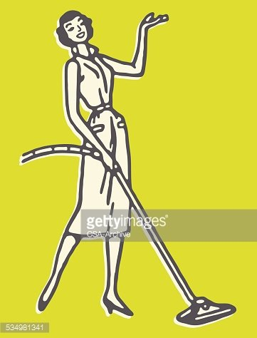 Vacuum Woman Stock Vectors Illustrations amp Clipart