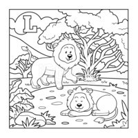 Coloring,Zoo,Child,Page,Und...