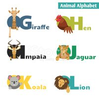 Animal,Zoo,Fun,Alphabet,Vec...