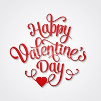 Happy Valentine's Day Vintage Card With Lettering