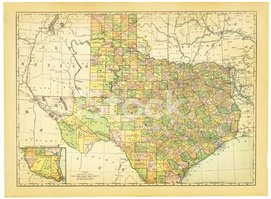 Texas,Map,Old,Antique,state...