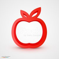 Red,Outline,Single Object,S...