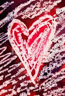 Painted Image,Heart Shape,P...