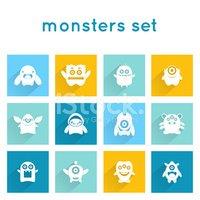 Monster,Cheerful,Icon Set,I...