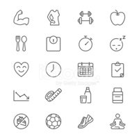 Health care thin icons