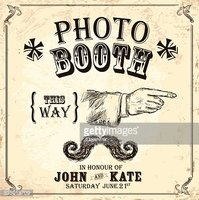 Vintage Photo booth design template with vintage camera