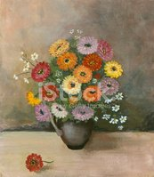 Oil Painting,Flower,Painted...